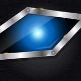 Abstract metal and glass background with frame. This is file of EPS10 format Stock Photos