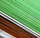 Abstract    in the metal green     bangkok   palaces  temple Stock Photography