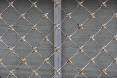 Abstract metal grid background texture. Wall royalty free stock photo