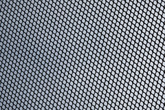 Abstract metal grid over cloud sky of satellite dish Stock Photography