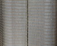 Abstract metal grid wall Stock Photos