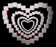 Abstract metal heart Royalty Free Stock Photography