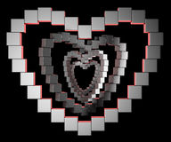 Abstract metal heart Stock Photography