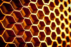 Abstract metal honeycomb structure stock images