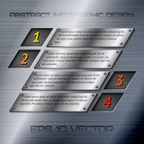 Abstract metal infographics options Royalty Free Stock Photos