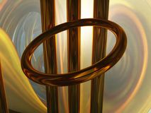Abstract metal installation Stock Photo