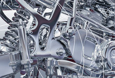 Abstract metal machine Royalty Free Stock Photo
