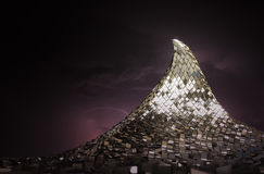 Abstract of Metal. Metal mountain in the abstract 3D rendering Royalty Free Stock Photo