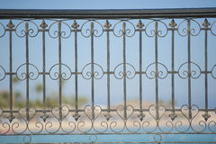 Abstract metal railing pattern Royalty Free Stock Images
