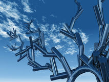 Abstract metal sculpture Royalty Free Stock Photo