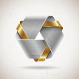 Abstract metal shape stock illustration
