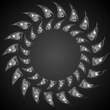 Abstract metal shape logo background Royalty Free Stock Photography