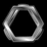 Abstract metal shape logo design Stock Photos