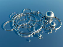 Abstract metal shapes Stock Images