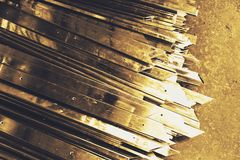Abstract metal sharp Royalty Free Stock Photography