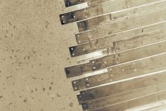 Abstract metal slat Royalty Free Stock Image