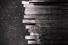 Abstract metal slat Royalty Free Stock Images