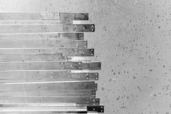 Abstract metal slat Stock Image