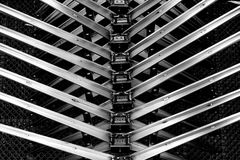 Abstract metal spine Stock Photos