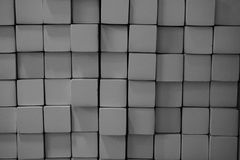 Abstract metal square block Royalty Free Stock Images