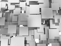 Abstract metal squares overlapping Royalty Free Stock Images