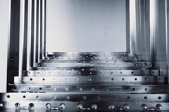 Abstract metal steps Stock Photography
