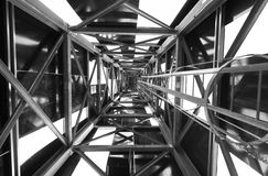 Abstract metal structure in black and white. Royalty Free Stock Photography
