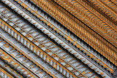 Abstract Metal Texture Pattern. Of rusty rebars. Diagonal royalty free stock photography