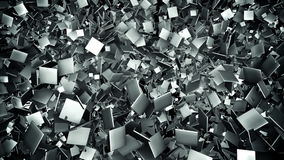 Abstract Metal Tile Field Loop Background stock video