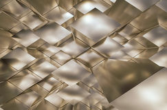 Abstract metal trapezoid. Royalty Free Stock Image