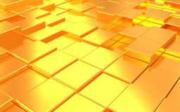 Abstract metall gold background Stock Photography