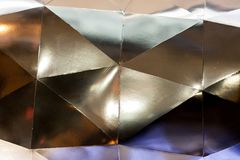 Abstract metall silver light geometric background. Horizontal image Royalty Free Stock Image