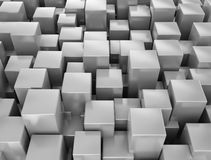 Abstract metallic 3d cubes. Background stock illustration
