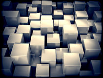 Abstract metallic 3d cubes Royalty Free Stock Images
