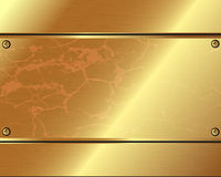 Abstract metallic background of gold  plates Stock Photos