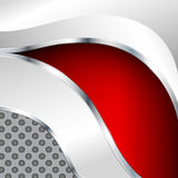Abstract metallic background with red element Stock Images