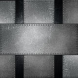 Abstract metallic background with screws Royalty Free Stock Photography
