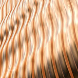 Abstract metallic background with wavy structure. Stock Image