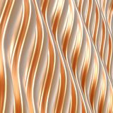 Abstract metallic background with wavy structure. Stock Photos