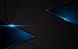 Abstract metallic black blue frame sport design concept innovation background royalty free illustration