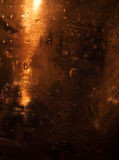 Abstract metallic bronze background. With water drops Stock Photography