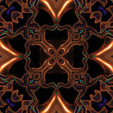 Abstract metallic bronze viking or celtic like pattern made seamless Royalty Free Stock Photos