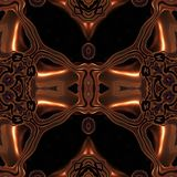 Abstract metallic bronze viking like pattern made seamless Stock Photography