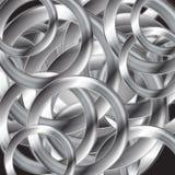 Abstract metallic circles vector design. Abstract metallic circles vector background Royalty Free Stock Photography