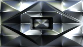 Abstract metallic color motion footage with blended geometric elements stock illustration