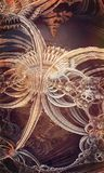 Abstract metallic composition Stock Image