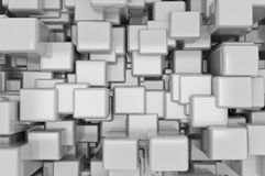 Abstract metallic cubes background Royalty Free Stock Images