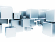 Abstract metallic cubes Royalty Free Stock Photography