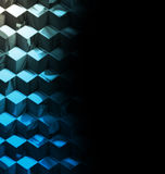 Abstract metallic cubes technology background Stock Photo