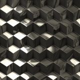 Abstract metallic cubes technology background Royalty Free Stock Photography